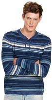 Denim & Supply Ralph Lauren Striped Cotton Henley Sweater