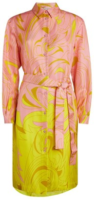 Emilio Pucci Belted Ombre Shirt Dress