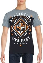 Affliction Path To Victory Printed Cotton Tee