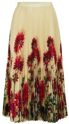 Dries Van Noten Pleated printed skirt