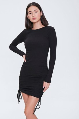 Forever 21 Ruched Drawstring Mini Dress