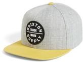 Brixton Men's Oath Iii Snapback Baseball Cap - Grey