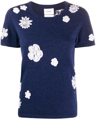 Barrie short sleeve floral print T-shirt