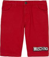 Moschino Bubble logo cotton shorts 4-14 years