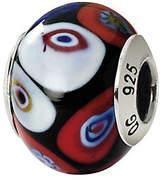 Murano Prerogatives Sterling Black Multi Italian Glass Bead