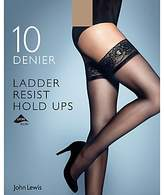 John Lewis 10 Denier Ladder Resist Hold Ups, Pack of 1