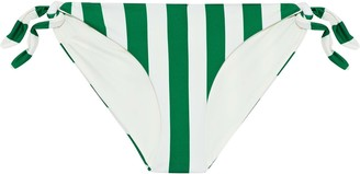 Solid & Striped The Jane Striped Low-rise Bikini Briefs