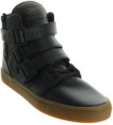 Radii Straight Jacket Vlc Mens Black Leather High Top Lace Up Sneakers Shoes 9.5