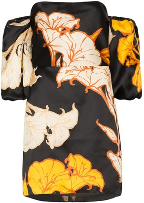 Johanna Ortiz Cosmic Origin floral silk mini dress