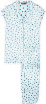 Three J NYC Poppy Printed Silk-Charmeuse Pajama Set