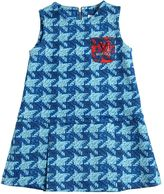 Mimisol Houndstooth Printed Scuba Dress