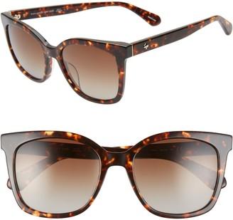 Kate Spade Kiyas 53mm Polarized Cat Eye Sunglasses