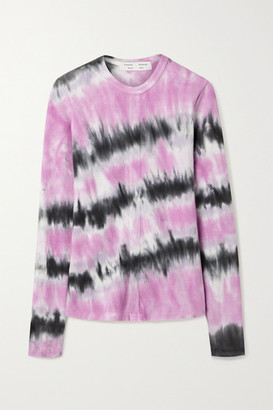 Proenza Schouler White Label Ribbed Tie-dyed Stretch-cotton Top - Pink