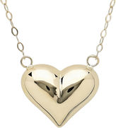 JCPenney FINE JEWELRY 14K Yellow Gold Polished Puffed Heart Necklace