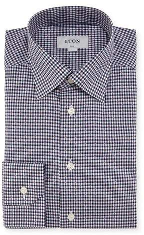 Eton Slim Checked Cotton Dress Shirt