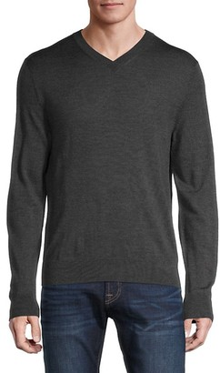 Saks Fifth Avenue Merino Wool-Blend V-Neck Sweater