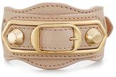 Balenciaga Metallic Edge Leather Belt-Style Bracelet