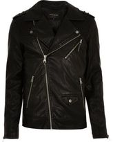 River Island Black Quilted Biker Jacket