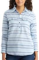 Chaps Petite Striped Chambray Shirt