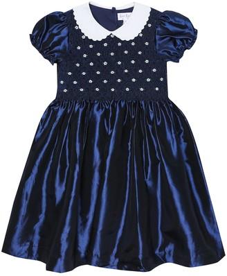 Rachel Riley Smocked taffeta dress