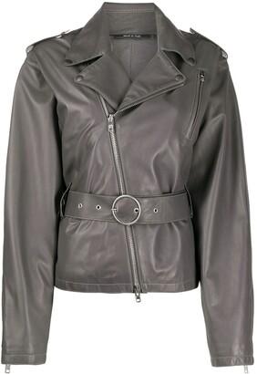 Maison Margiela belted leather jacket