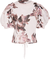 Brock Collection Takako Floral-Print Cotton Top