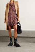 Thumbnail for your product : MICHAEL Michael Kors Ruffled Paisley-print Crepe Wrap Mini Dress - Burgundy