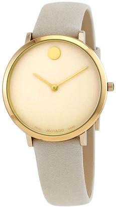 Movado Ultra Slim Quartz Ladies Watch 0607345