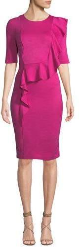 Trina Turk Frolic Ruffle Dress in Tropical Ponte
