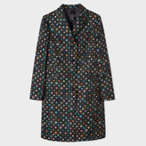 Paul Smith Women's Black 'Tudor Rose' Jacquard Epsom Coat