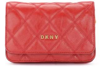 DKNY Sofia Shoulder Bag Made Of Red Quilted Leather