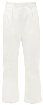 Chimala Sulphur Flared Cotton-twill Trousers - Ivory