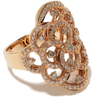 Brumani 18kt rose gold Laces diamond ring