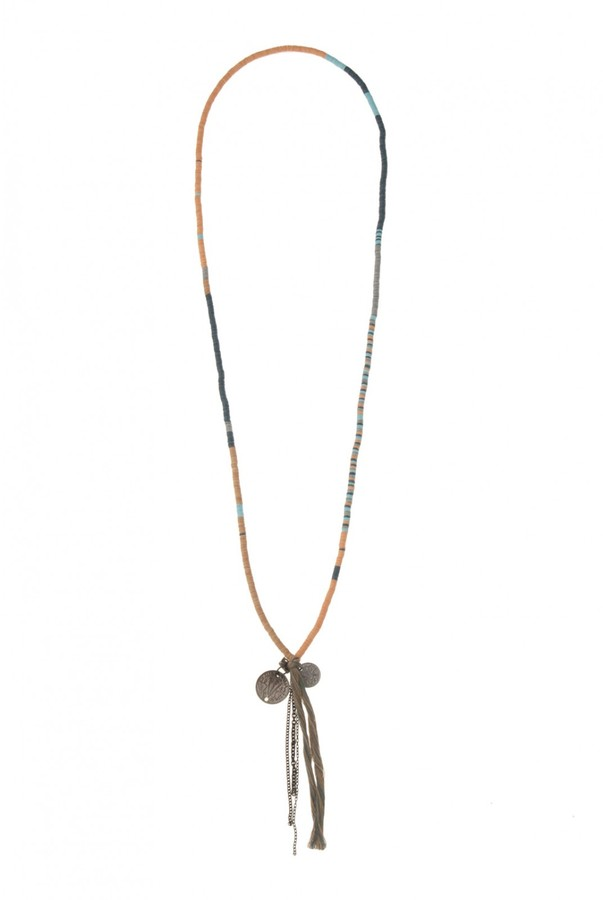 Chan Luu Tassel Coin Solid Necklace