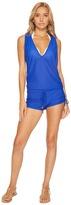 Luli Fama Cosita Buena T-Back Romper Cover-Up Women's Swimsuits One Piece