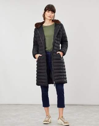 Joules Maristow Longline Snuggle Hood Padded Coat