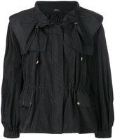 Jil Sander Navy oversize drawstring waist jacket
