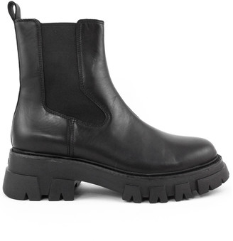 Ash Lloyd Black Leather Ankle Boot