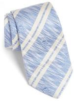 Psycho Bunny Men's Double Stripe Silk Tie
