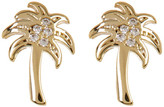 Lucky Brand Crystal Detail Palm Tree Stud Earrings