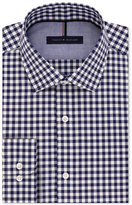 Tommy Hilfiger Men's Slim-Fit Navy Gingham Dress Shirt