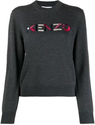 Kenzo Logo-Embroidered Wool Jumper