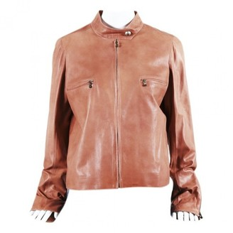 Chanel Pink Leather Jackets