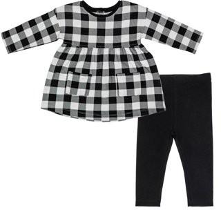 Petit Lem Long Sleeve Dress & Leggings, 2pc Outfit Set (Baby Girls)