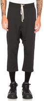 Rick Owens Cropped Sweatpants in Black.