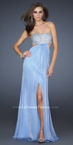 La Femme Shimmering Bandeau Homecoming Gown