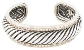 David Yurman Diamond Narrow Sculpted Cable Cuff