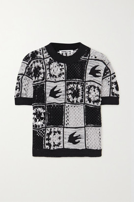 McQ Kaio Patchwork Crocheted Cotton T-shirt