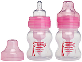 Dr Browns Pink 4-Oz. Wide-Neck Baby Bottle - Set of Two