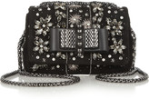 Christian Louboutin Sweet Charity Mini embellished suede shoulder bag